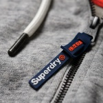 Veste Superdry homme modèle Orange Label Zip grise