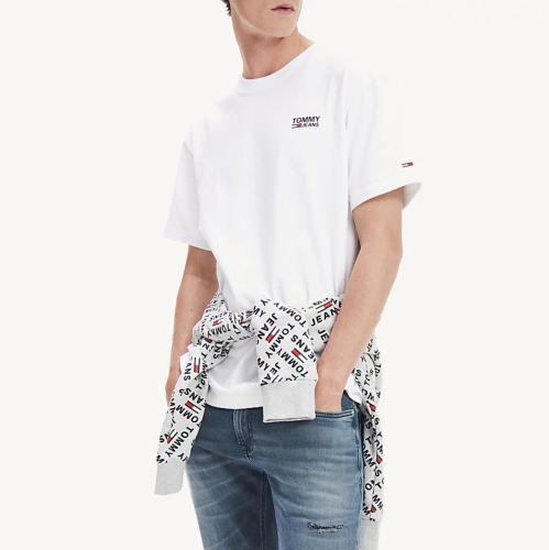 T Shirt Tommy Jeans homme blanc