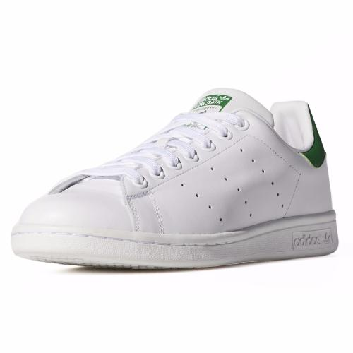Chaussures Adidas Originals Stan Smith en cuir blanc talon vert