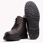 Chaussures Boots en cuir marron Tommy Hilfiger homme