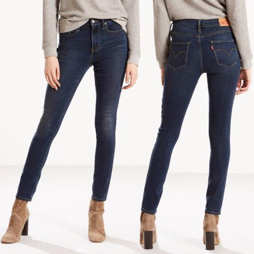 jean levis femme 721 skinny taille haute bleu amnesia. Black Bedroom Furniture Sets. Home Design Ideas