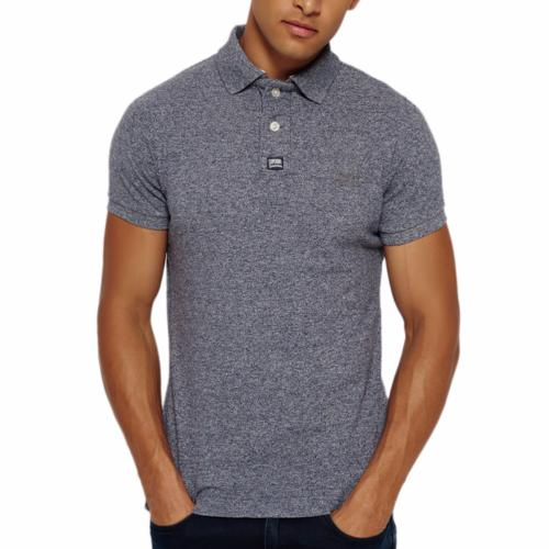 Polo Superdry homme Grindle Pique Polo gris chiné