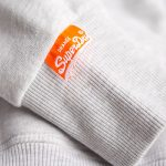 Sweat Superdry homme à capuche modèle Orange Label gris clair ice marl