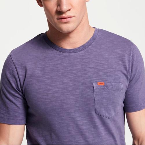 tee shirt homme violet superdry