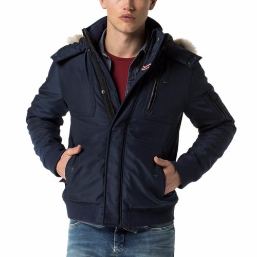 Manteau Tommy Hilfiger coupe blazer Homme modèle Jerry bleu