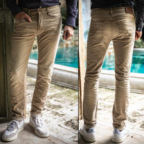 Jean beige Freeman T Porter homme Dustee Cassidy light brown