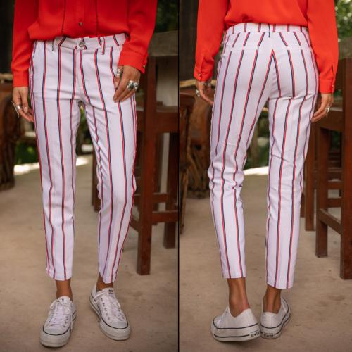 Pantalon city Freeman T Porter femme modèle Claudia Captain
