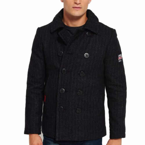 manteau caban superdry homme