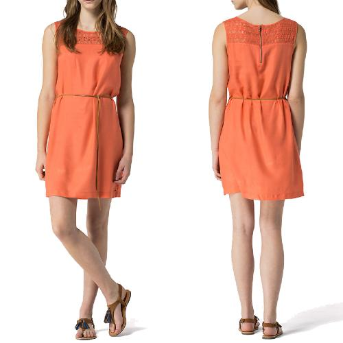 Robe Tommy Hilfiger modèle Emely couleur Deep Sea Coral