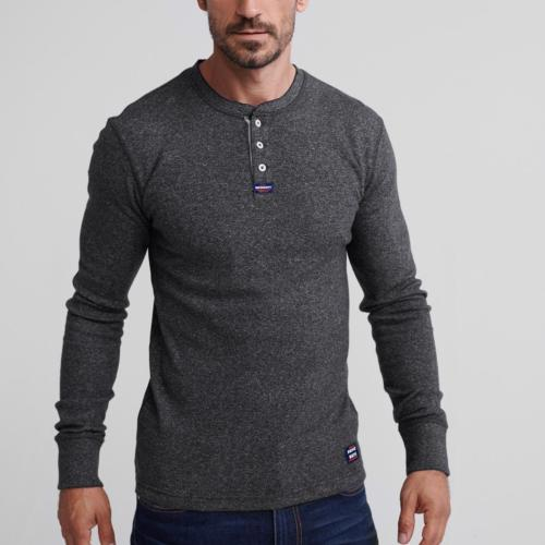 Top manches longues Superdry gris anthracite