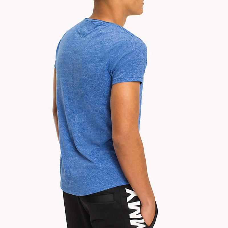 t shirt tommy hilfiger jeans homme en coton bleu chin. Black Bedroom Furniture Sets. Home Design Ideas