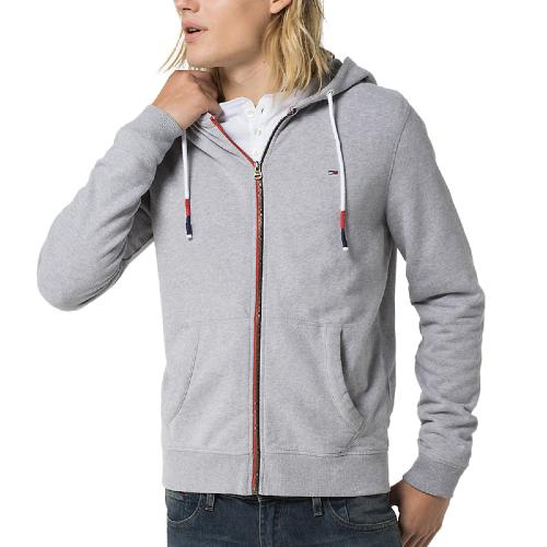 Sweat zippé Tommy Hilfiger Rob gris pour homme collection Hilfiger Denim