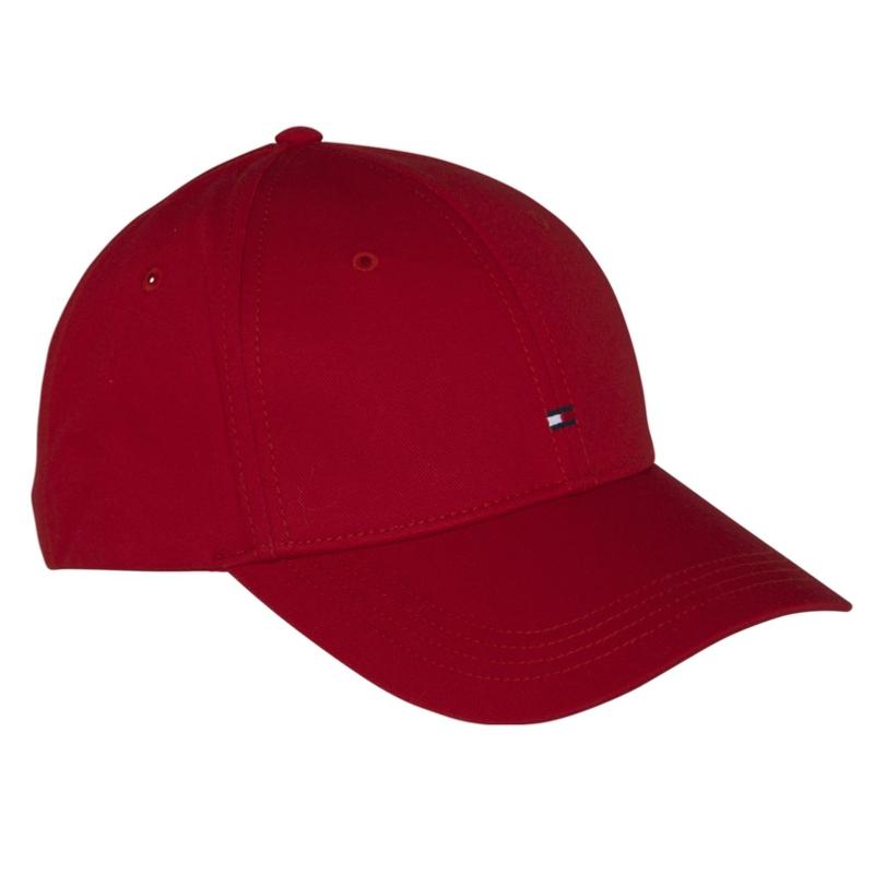 casquette rouge tommy hilfiger avec logo brod. Black Bedroom Furniture Sets. Home Design Ideas