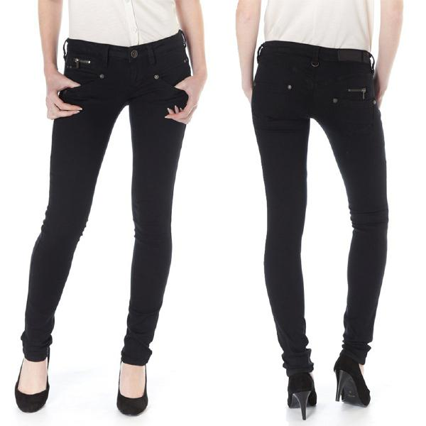 jean femme Freeman T Porter Alexa slim magic denim noir