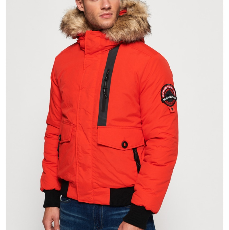 Superdry Blouson Bold Bomber Everest Homme Orange Ygqzd