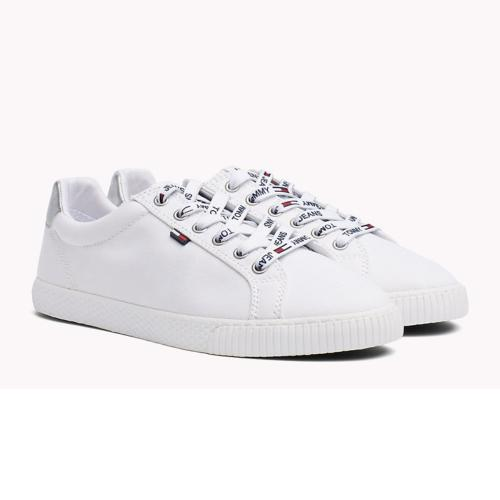 Chaussures en toile blanche Tommy Hilfiger Jeans femme