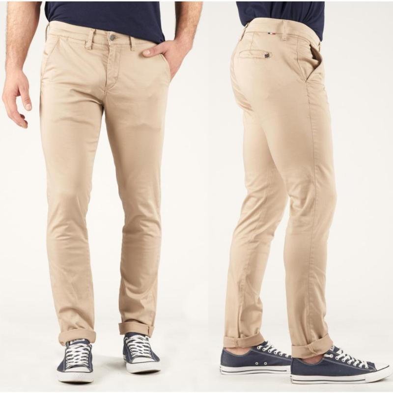 Pantalon Chino homme Le Temps des Cerises Jas beige