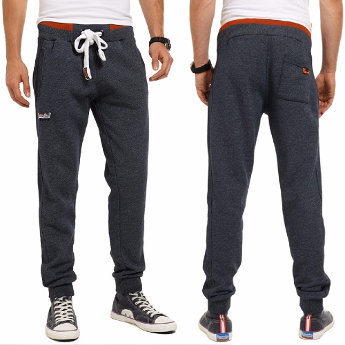 Pantalon Jogging Superdry homme modèle Orange Label Tipped Jogger en coton bleu