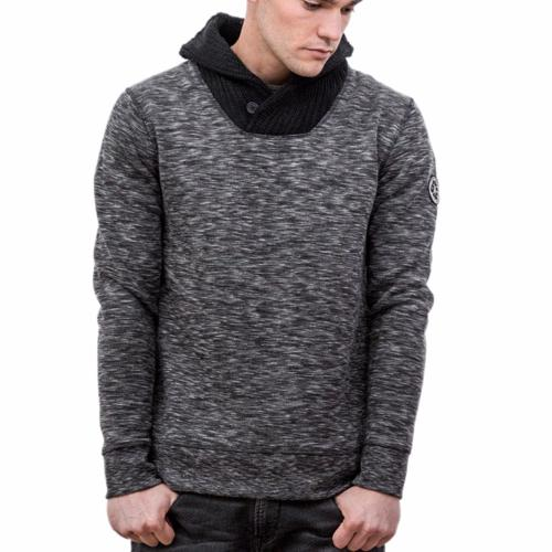 Sweat LTC Denim Japan Rags homme modèle Holly gris chiné