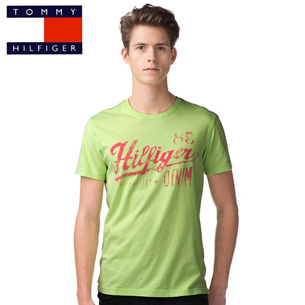 t shirt tommy hilfiger federer vert. Black Bedroom Furniture Sets. Home Design Ideas