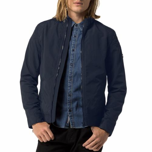 veste blouson tommy hilfiger homme biker jacket bleu marine. Black Bedroom Furniture Sets. Home Design Ideas